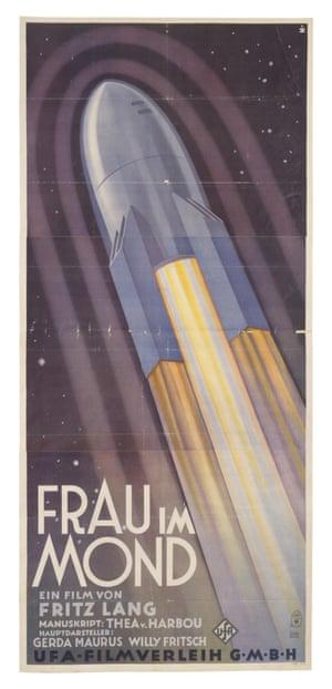 Poster by Herdmann for German silent film Frau im Mond directed by Fritz Lang, 1929