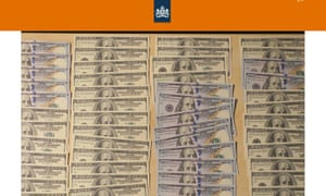 US dollars recovered by Dutch intelligence