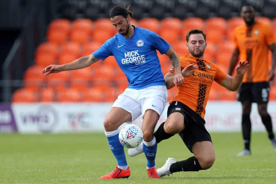 George Boyd, in action here in a friendly at Barnet, has rejoined Peterborough.