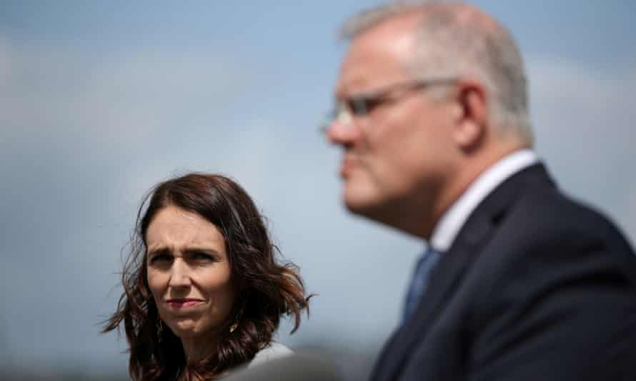 New Zealand Prime Minister Ardern and Australian Prime Minister Morrison hold a joint press conference at Admiralty House in SydneyNew Zealand Prime Minister Jacinda Ardern and Australian Prime Minister Scott Morrison hold a joint press conference at Admiralty House in Sydney, Australia, February 28, 2020. REUTERS/Loren Elliott TPX IMAGES OF THE DAY