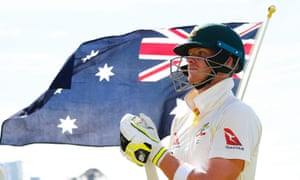 Steve Smith in action for Australia against England at the WACA in Perth.