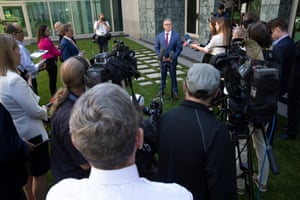 Joel Fitzgibbon gives a press conference announcing his resignation from the shadow cabinet.
