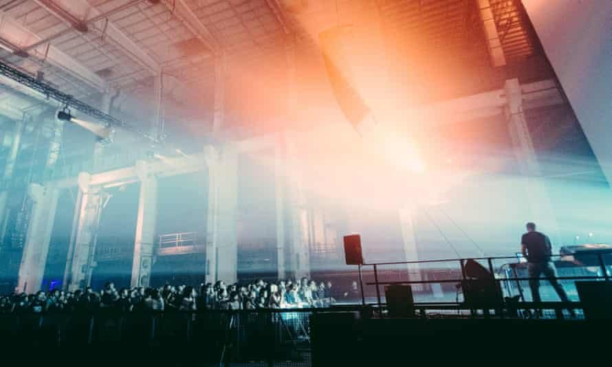 A crowd shot at Berlin Atonal festival 2015