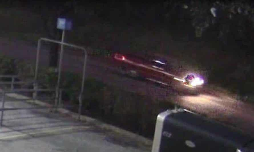 A screengrab released by the Harris County Sheriff's Office of the vehicle driven by the suspect in Jazmine Barnes' shooting death.