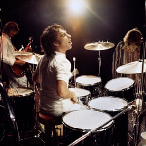 Keith Moon The larger than life drummer of the Who, famous for driving his Rolls Royce into a swimming pool at a party. As the rhythm section with John Entwhistle on base, they where the engine room that allowed creative freedom to Pete Townsend and Roger Daltrey