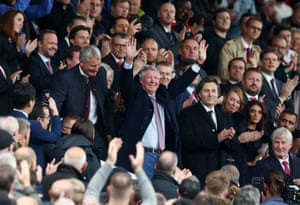 September 22: Sir Alex Ferguson waves to fans prior to the Premier League match between Manchester United and Wolverhampton Wanderers at Old Trafford.