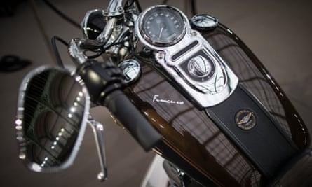 Harley Davidson Dyna Super Glide motorcycle.