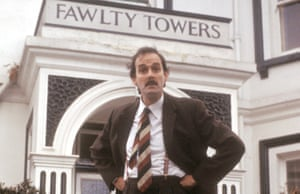 John Cleese as Basil Fawlty in Fawlty Towers BBC comedy.