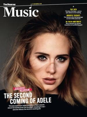 Adele on the cover of Observer Music 15 November 2015