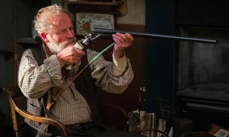 Peter Mullan as a tyrannical farmer in Sunset Song.