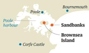 Brownsea map