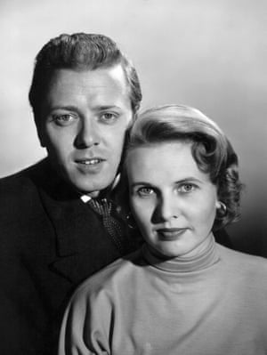 Richard Attenborough and Sheila Sim in the 1940s.