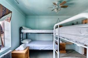 No-frills bunk beds in the dorm.