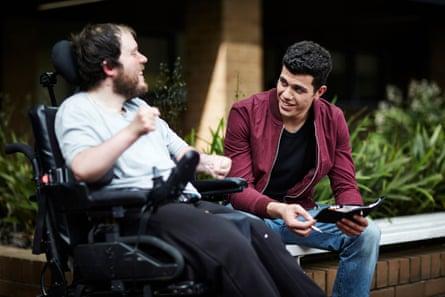 Chris Vaningen as Dennis and Elias Anton as Danny in the ABC miniseries Barracuda