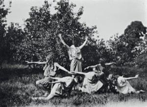 Kinswomen dancing, c.1924.