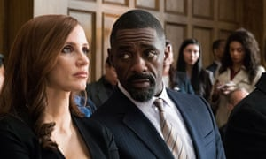 Poker princess … Jessica Chastain and Idris Elba in Molly's Game.