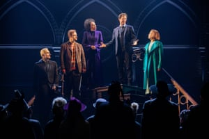 Tom Wren as Draco Malfoy, Gyton Grantley as Ron Weasley, Paula Arundell as Hermione Granger, Gareth Reeves as Harry Potter and Lucy Goleby as Ginny Potter.
