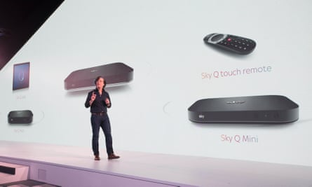 Andrew Olson of Sky at the launch of the new Sky Q system.