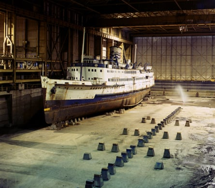 The Turbine Steam Ship Manxman in Pallion Engineering's dry dock in Sunderland, 2007.