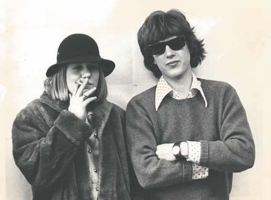 Tina Weymouth and Chris Frantz in 1973.