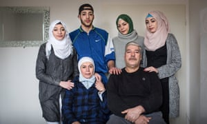 Members of the Syrian Abu Rashed family in Lüneburg, Germany.