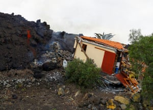A damaged house