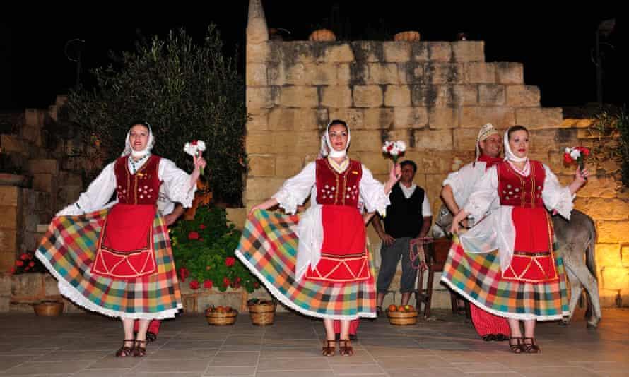 Maltese folklore show at Limestone Heritage Park and Gardens, Siggiewi, Malta.
