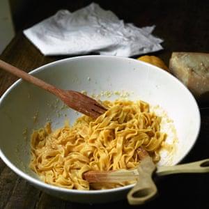 Tagliatelle with lemon and parmesan