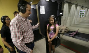 Ted Cruz at the CrossRoads Shooting Sports in Johnston, Iowa.