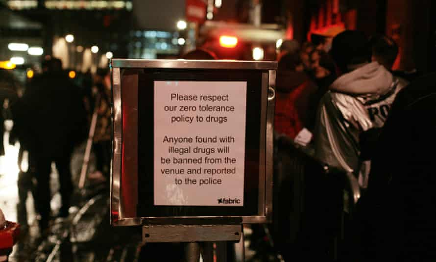 Patrons of the reopened Fabric nightclub are warned about drugs.