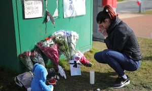 A shrine outside Alder Hey hospital after terminally ill 23-month-old Alfie Evans died at 2:30am on Saturday morning n Liverpool, England.