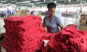 The Alta Gracia garment factory in the Dominican Republic.