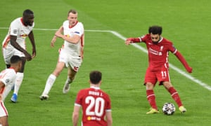 Mohamed Salah gives the Reds the lead.