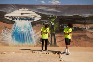 Nevada, USVisitors stop to take photos at ET Fresh Jerky in Hiko. A joke Facebook event named 'Storm Area 51, They Can't Stop All of Us' was created in June 2019. As of 13 September, more than 2 million people had signed up for the event