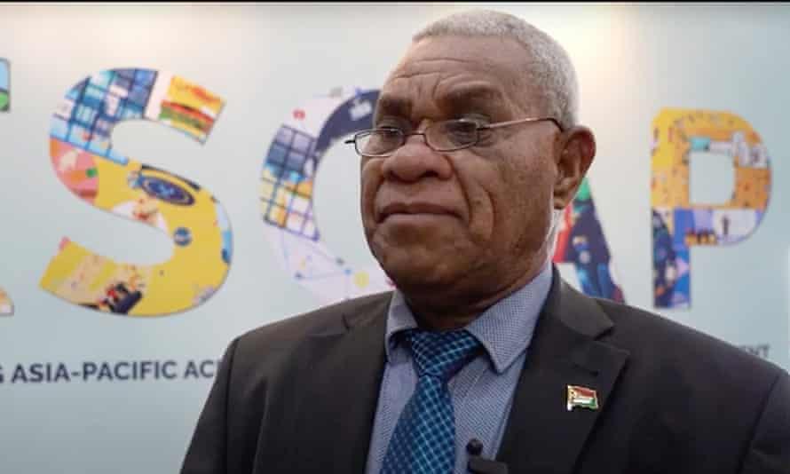 Vanuatu's prime minister, Bob Loughman