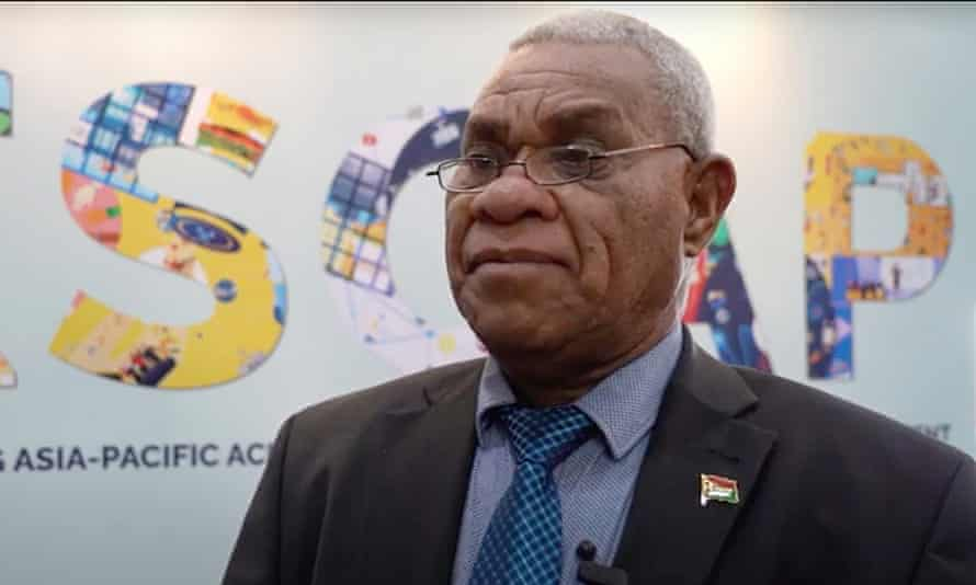 Vanuatu's prime minister Bob Loughman. A government inquiry found Vanuatu's economy depended upon its sale of citizenships