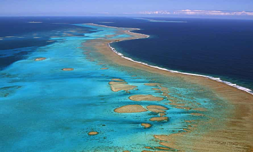 A recent, undated photo shows a reef barrier in the French pacific overseas territory of New Caledonia.
