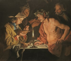 Brian Sewell's much loved work by Matthias Stomer, Blowing Hot, Blowing Cold (estimate: £400,000-600,000).
