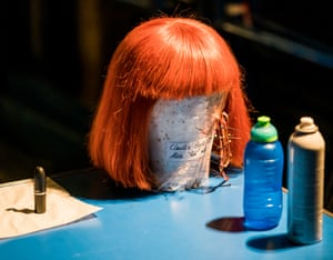 Props and wigs backstage, all made from scratch by the ROH props crew.