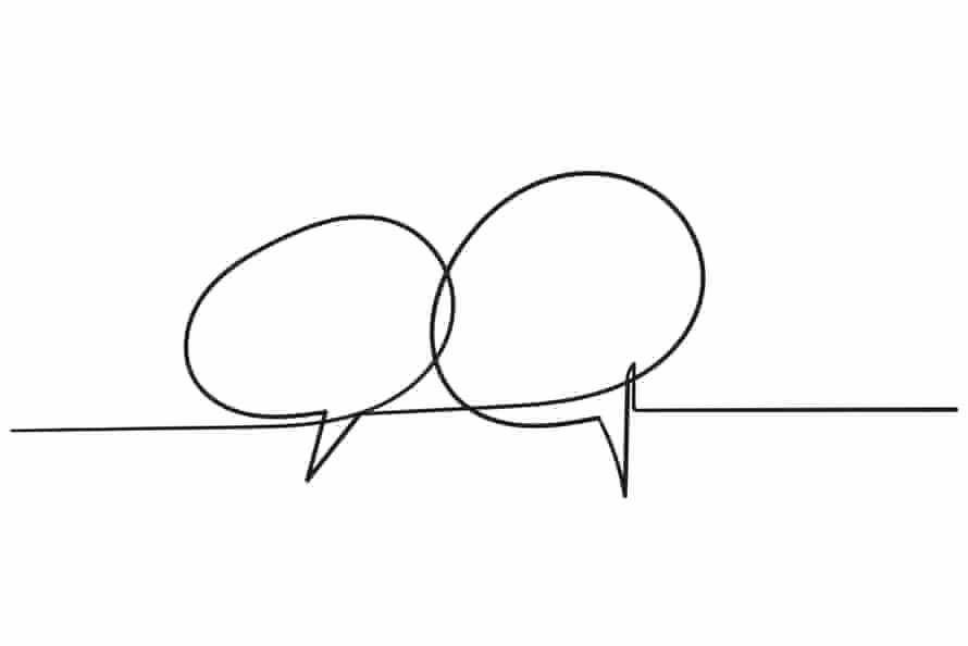 Hand drawn speech bubble.