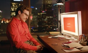 Joaquin Phoenix in the 2013 film Her