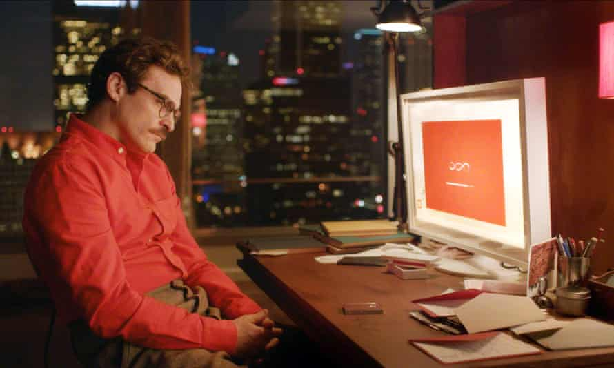 Rich human-computer relationship ... Theodore consults 'Samantha' in Spike Jonze's Her. Photograph: Allstar Collection/Warner Bros