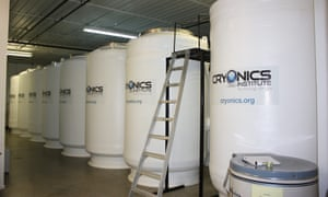 Insulated tanks for long-term patient storage at the Cryonics Institute in Clinton, Michigan, US.