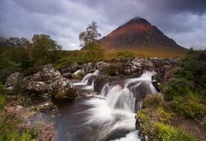 Midges and rain, Glencoe, Lochaber area of the Scottish Highlands, by Mark Ainsley.