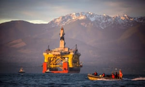 The Transocean Polar Pioneer, a semi-submersible drilling unit, seen off Washington state in 2015.