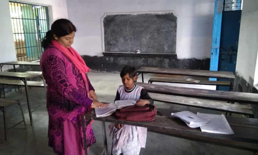 Priyanka Kumari teaches Janhavi Kumari.