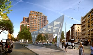 An artist's impression of the New York Aids Memorial located at West 12th Street and Greenwich Avenue.