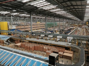 Amazon's distribution centre in Rugeley.