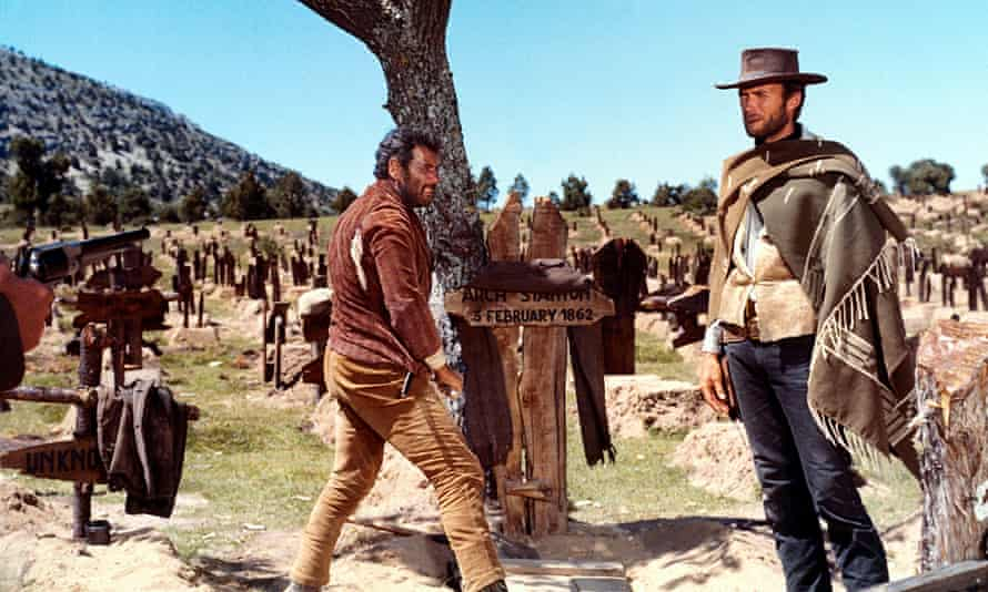 Eli Wallach and Clint Eastwood in their famous scene from Sergio Leone's The Good, The Bad and The Ugly.