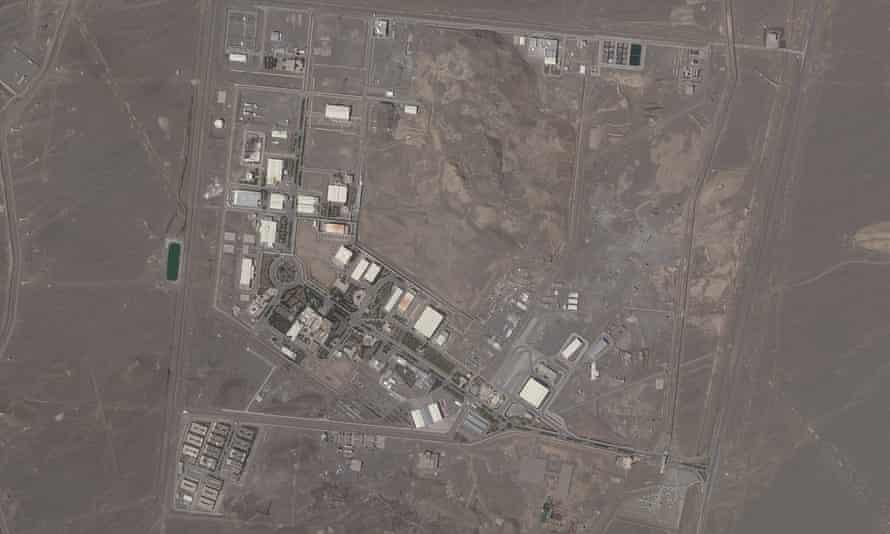 A satellite photo of Iran's Natanz nuclear facility